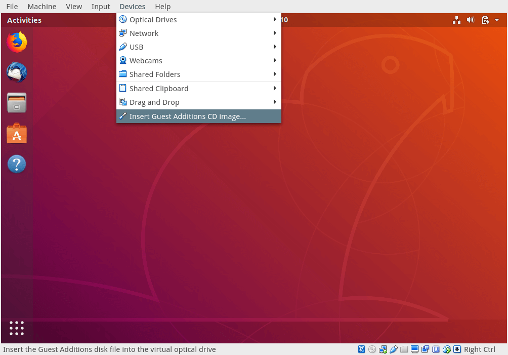How to Install VirtualBox Guest Additions in Ubuntu