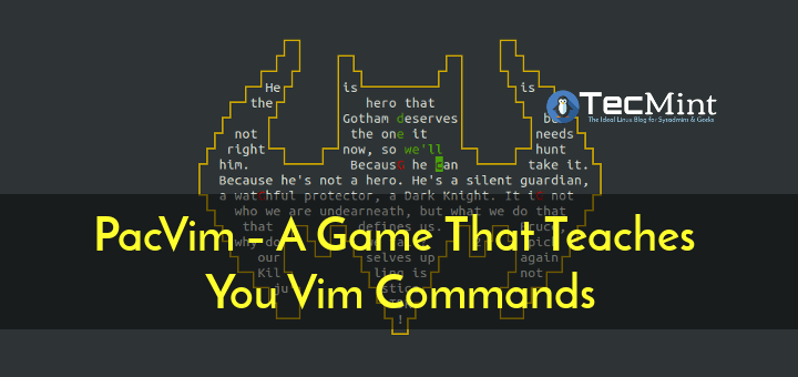 Learn Vim Commands with PacVim Game