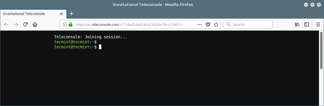 Share Linux SSH Session via Browser