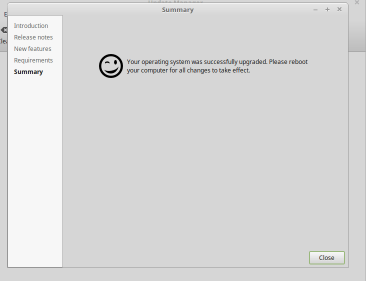 Upgraded to Linux Mint 18.3