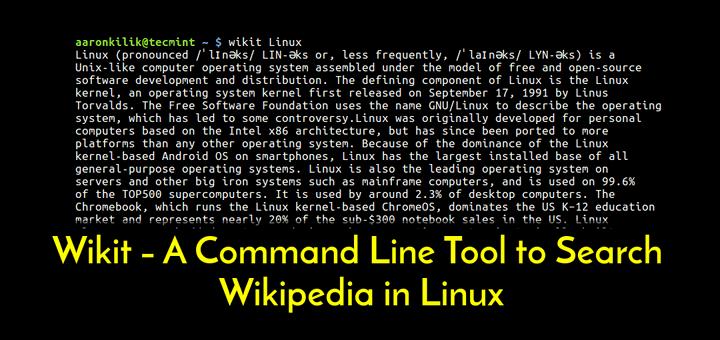 Wikipedia Commandline Tool