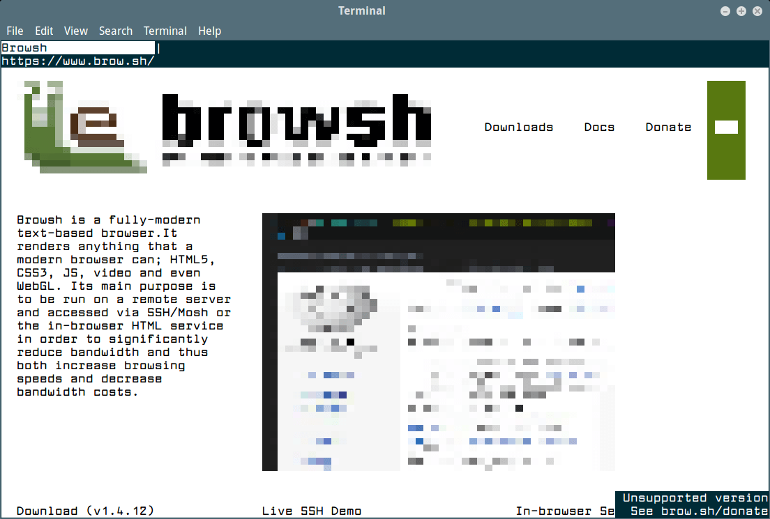Browsh Text Browser