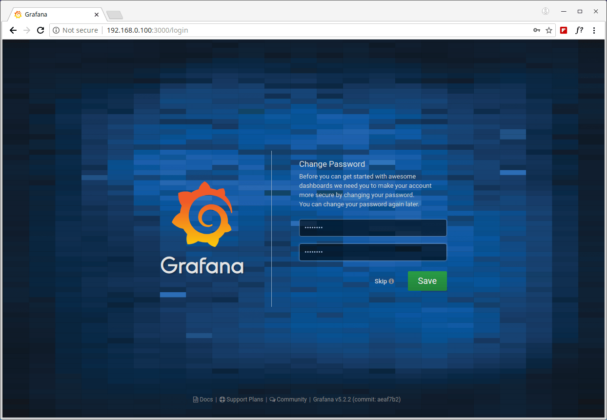 Grafana Set Admin Password