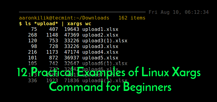 Linux Xargs Command Examples