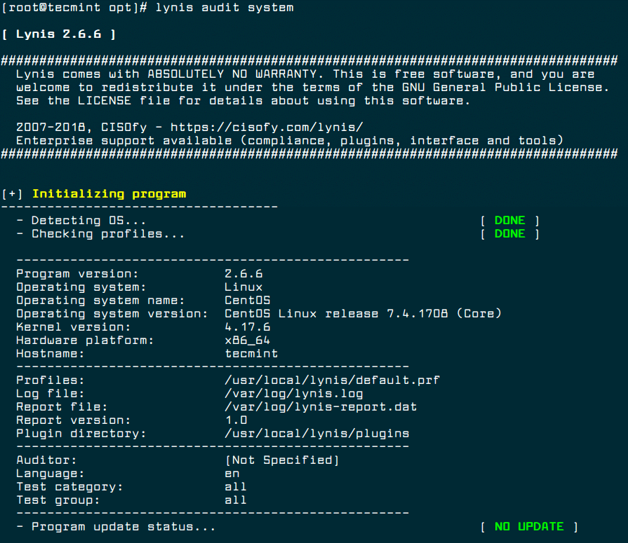 Lynis Linux Security Auditing Tool