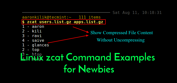 zcat Command Examples