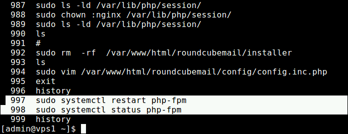 List Last Executed Linux Commands