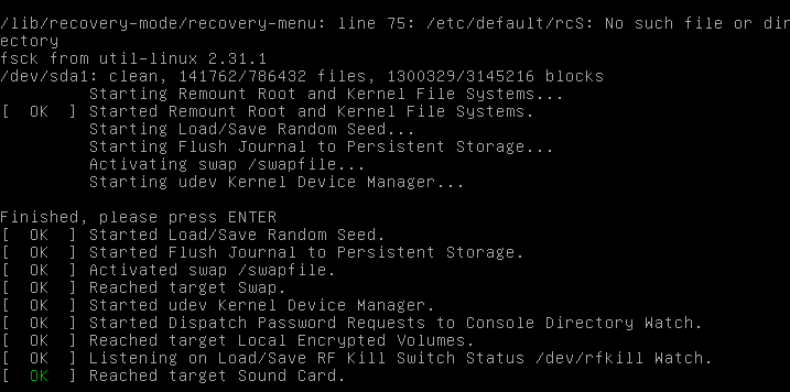 Running fsck Filesystem Check