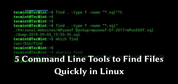 Tools to Find Files in Linux