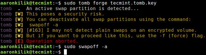 Turn Off Swap