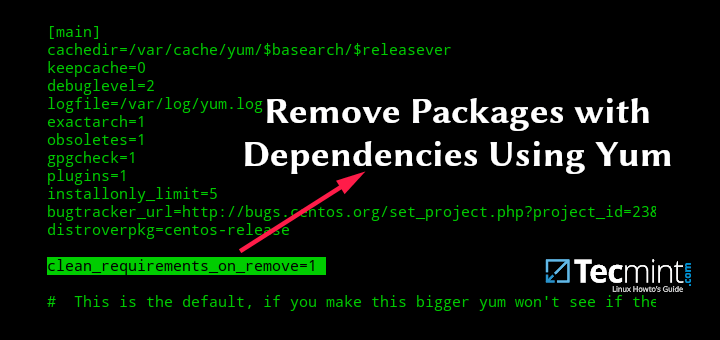 How to Remove Packages with Dependencies Using Yum