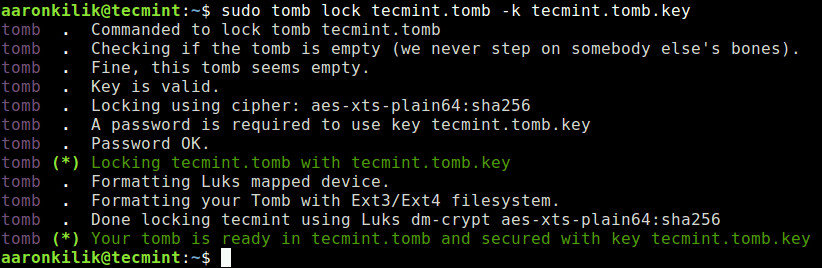 Lock Tomb File with Key