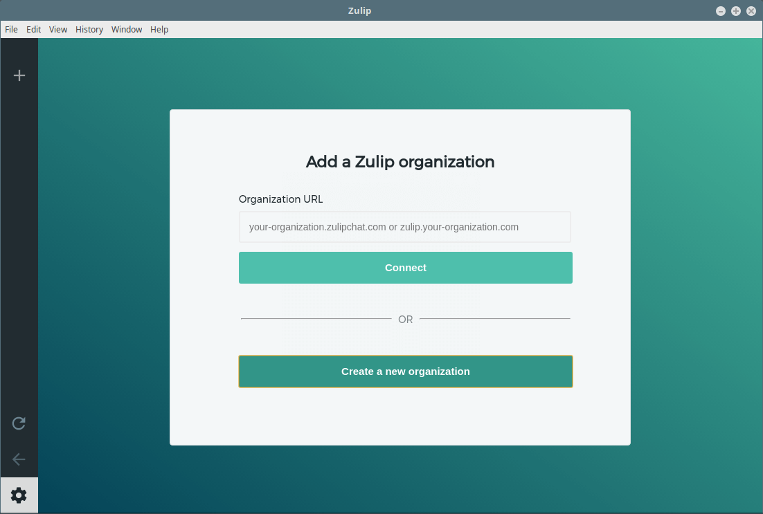 Create Zulip Organization