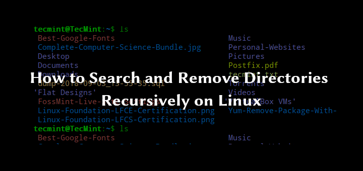 Find and Remove Directory in Linux