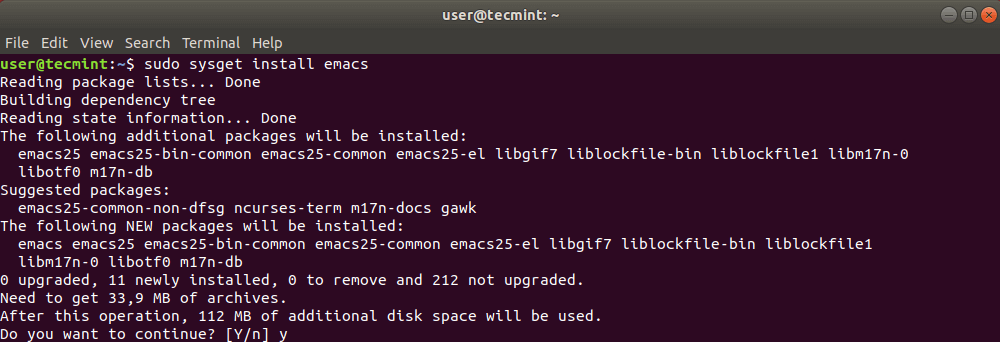 Install Package in Ubuntu