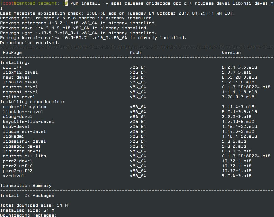 Installieren Sie Softwarepakete