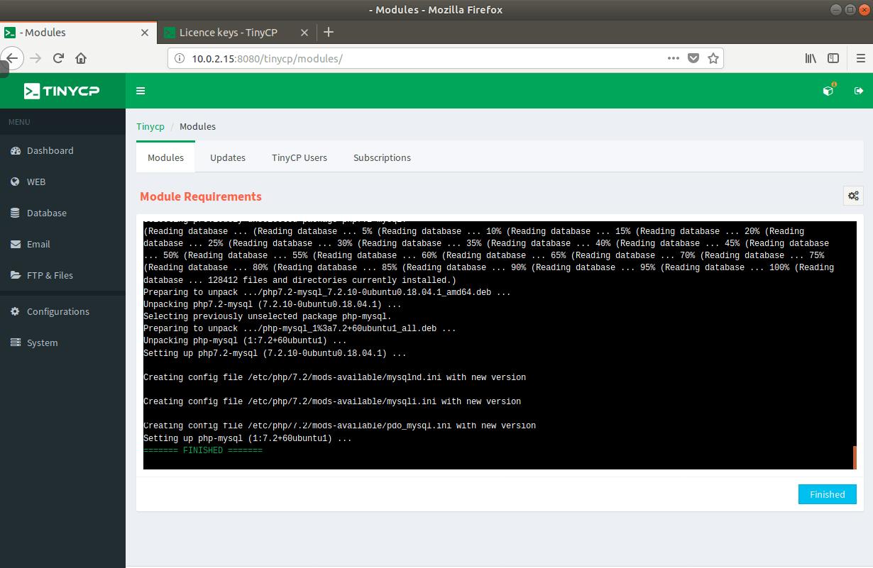 MySQL Module Installation