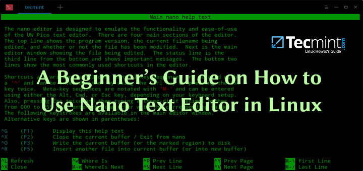 Learn Nano Editor in Linux