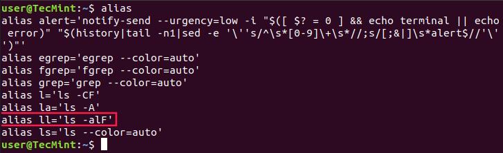 Listen Sie Aliase unter Linux auf