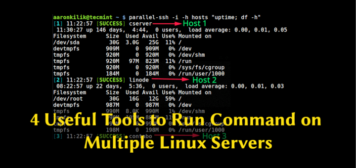 4 Useful Tools to Run Commands on Multiple Linux Servers