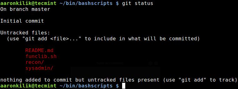 Check Git Status