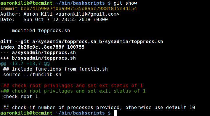 Git Show Objects