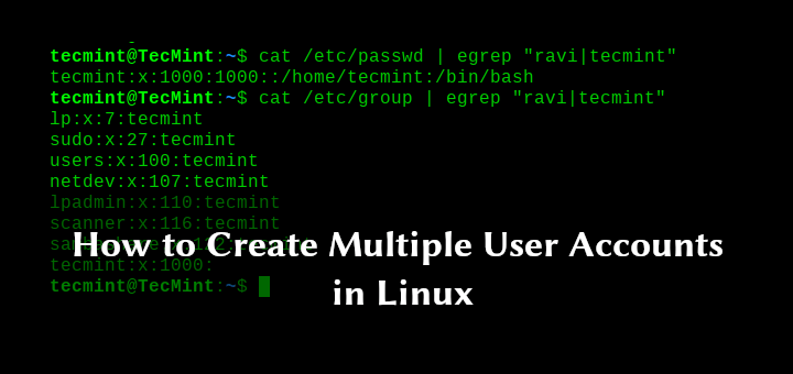 Create Multiple Users in Linux