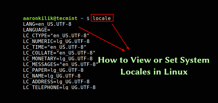 Set System Locales in Linux