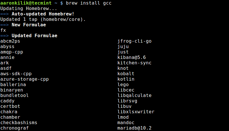 Install Package Using Linuxbrew