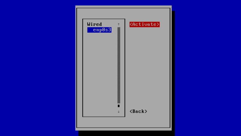Activate Network Interface