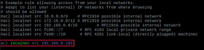 Add IP Address to Allow Web