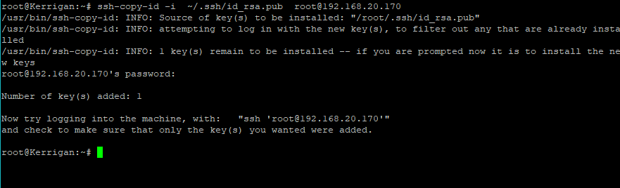 Copy SSH Key to RHEL 8