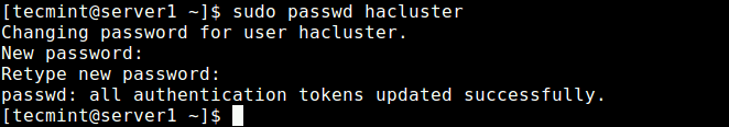 Create Cluster User Password
