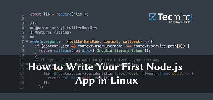Create Your First Node.js App in Linux