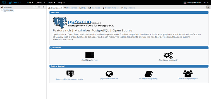 How to Install pgAdmin4 in CentOS 7