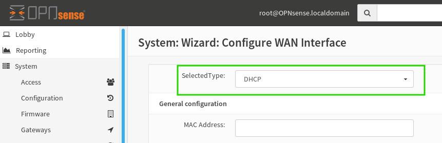 OpnSense DHCP Settings