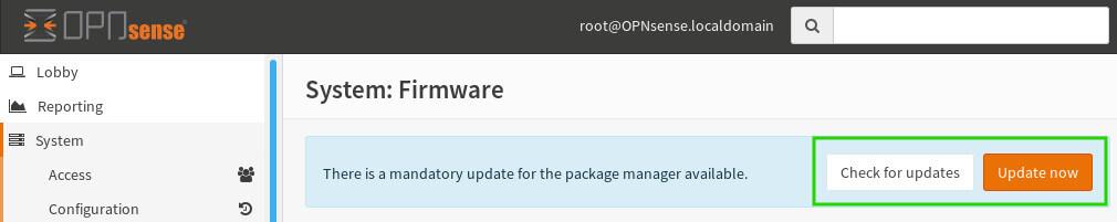 OpnSense Updates