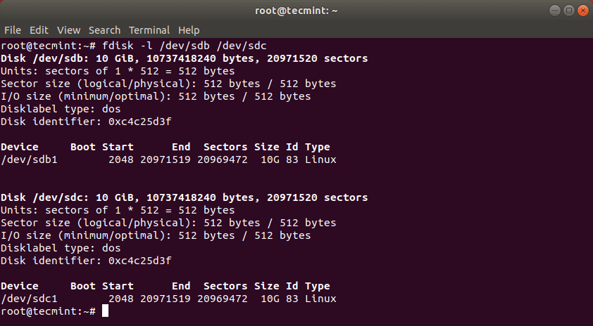 Verify Linux Hard Drive Cloning