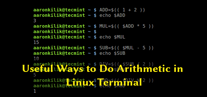 Math Calculations in Linux Terminal