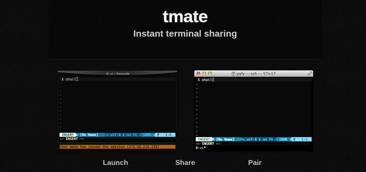 Tmate - Share SSH Terminal Sharing
