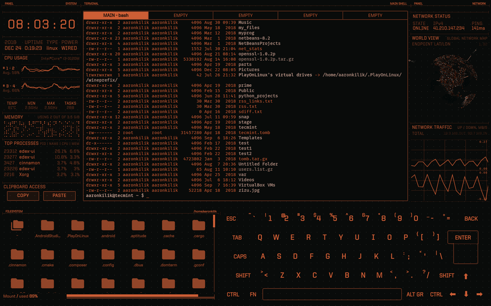 eDEX-UI Blade Theme