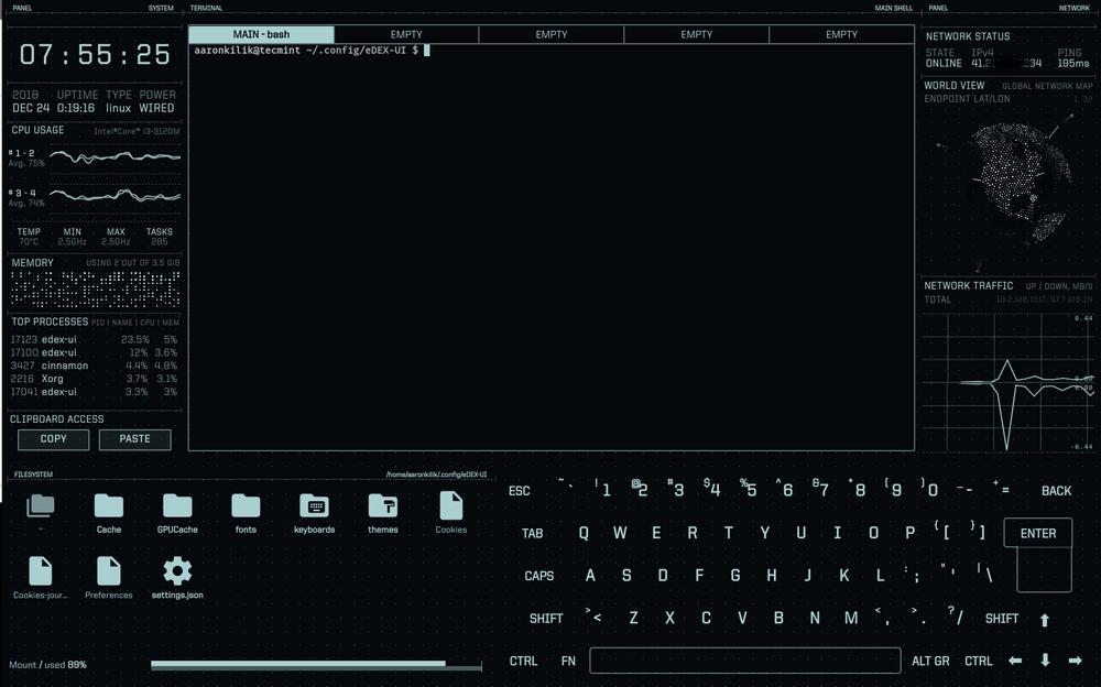eDEX-UI Terminal Emulator