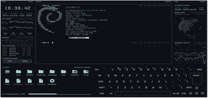 edex-UI - Terminal Emulator for Linux