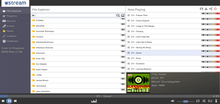 mStream - Linux Personal Music Streaming Server