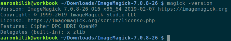 Check ImageMagick Version in Ubuntu