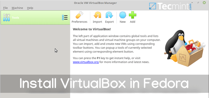 Install VirtualBox in Fedora