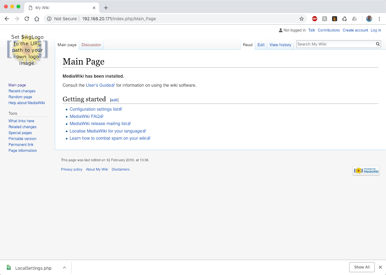 MediaWiki Main Page