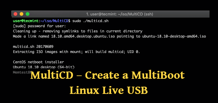 MultiCD - Create Multi-boot Linux USB