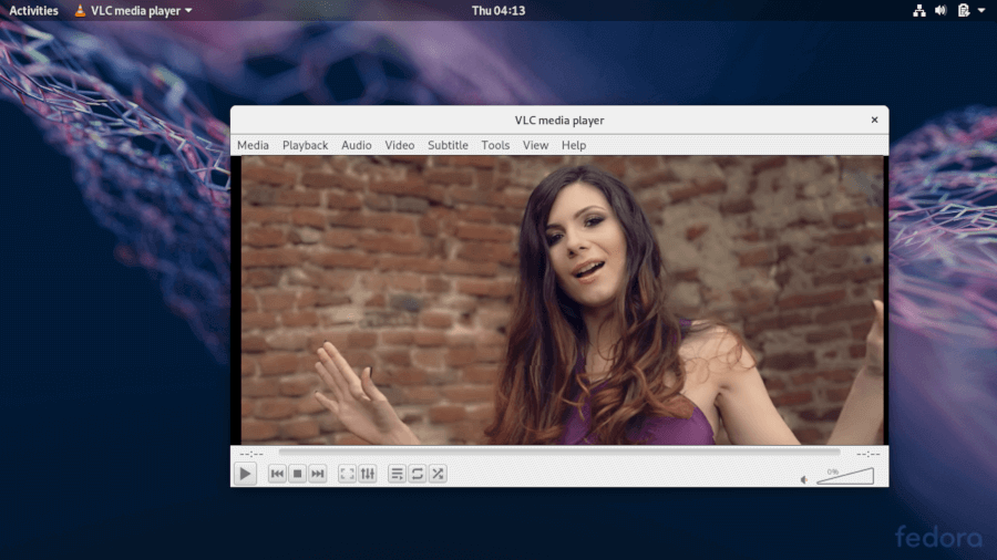 Running VLC on Fedora 30