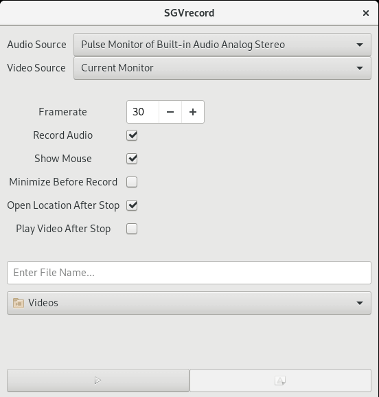 SGVrecord - Screen Recording Tool